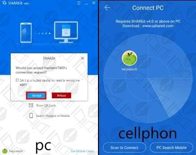 انتقال فایل بین دو لپ تاپ