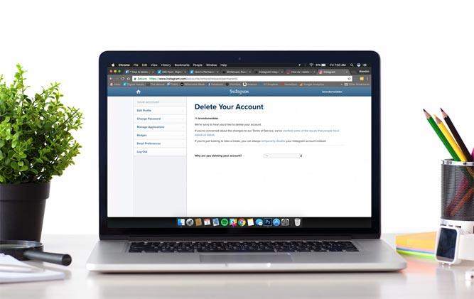نحوه حذف اکانت اینستاگرام و پاک کردن حساب کاربری اینستاگرام
