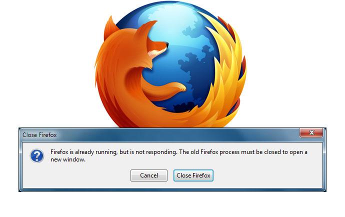 رفع ارور Firefox is already running but is not responding