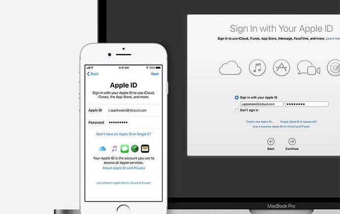 مشکلات استفاده از اپل آیدی مشترک apple ID مشترک