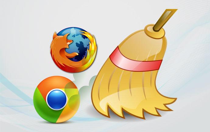 پاك كردن كش مرورگر کروم و مرورگر فایرفاکس
