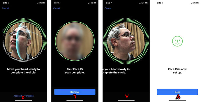 Face id آیفون X