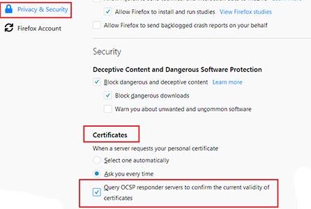 روش های رفع ارور certificate