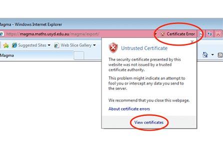 ارور certificate expired