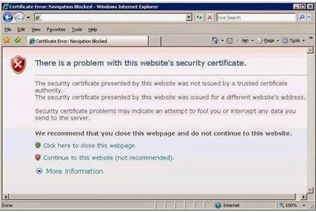 ارور certificate چیست