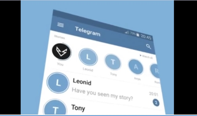 گذاشتن استوری در تلگرام