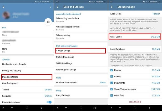 رفع مشکل استوری تلگرام