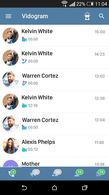 قابلیت تماس تصویری تلگرام