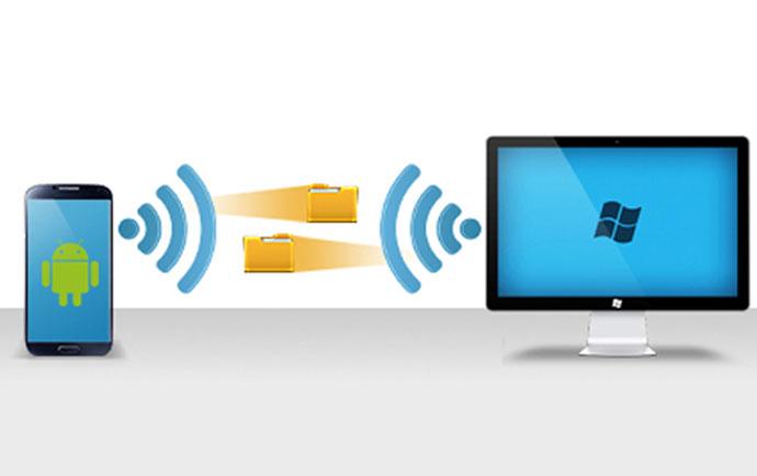 آموزش انتقال فایل به صورت بی سیم بین گوشی و کامپیوتر