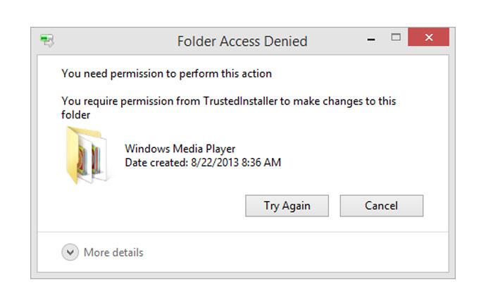 آموزش رفع مشکل Access denied ویندوز