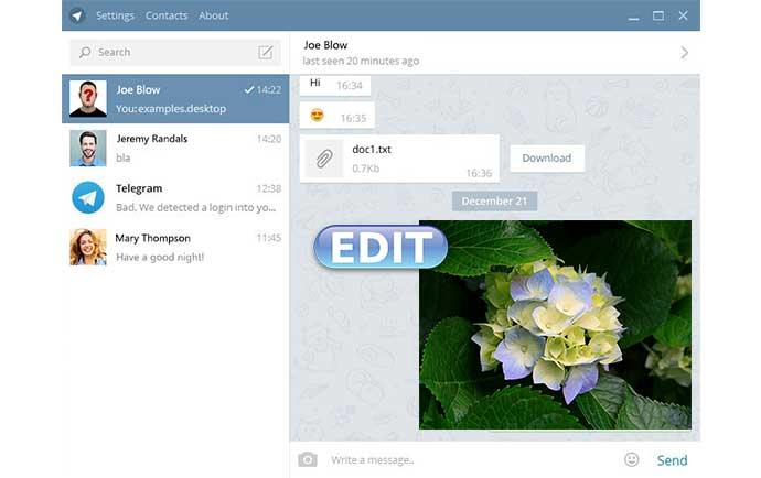 آموزش ویرایش عکس ارسال شده در تلگرام