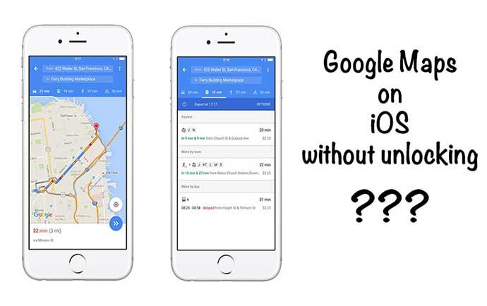 آموزش استفاده از نقشه گوگل در آیفون بدون باز کردن قفل گوشی