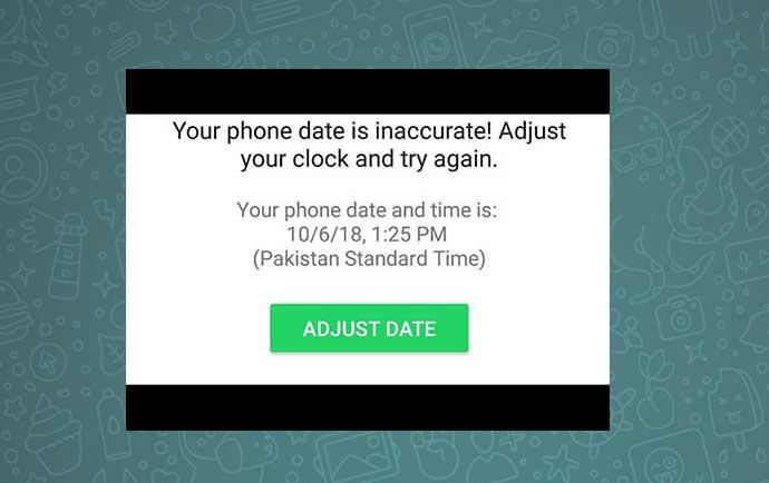 آموزش رفع مشکل تاریخ و ساعت اشتباه در واتساپ