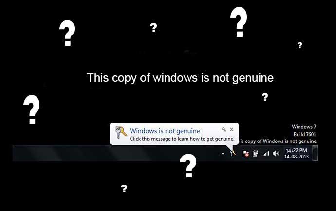 رفع پیغام This copy of windows is not genuine ویندوز 7
